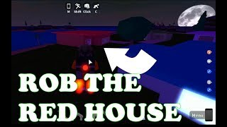 I Fly The Jet Pack to Rob the RED HOUSE in Roblox Mad City. Let's Play With Ben Toys and Games
