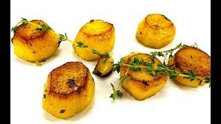 Красивый печеный картофель/гарнир из картофеля/potato fondant/картофельные бочонки/жареный картофель