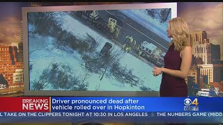 Driver Dies After Car Rolls Off I-495 Into Icy Water In Hopkinton thumbnail