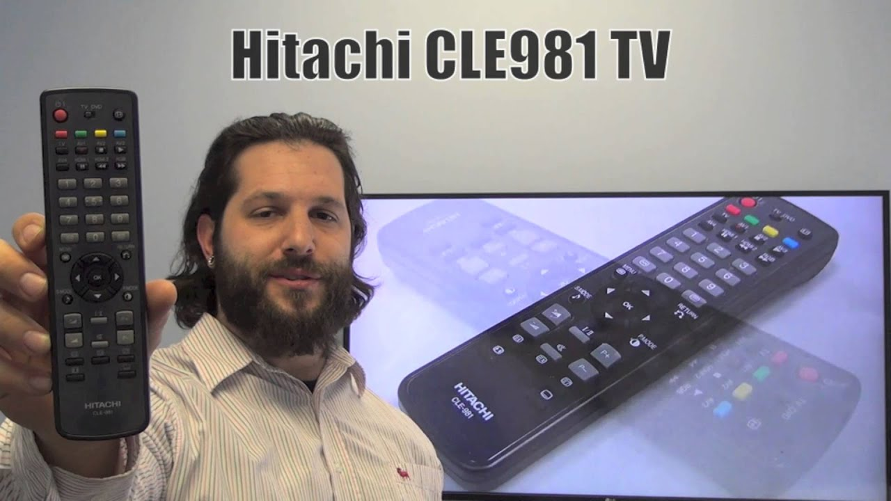 hitachi tv remote. hitachi cle981 tv remote control - www.replacementremotes.com youtube hitachi tv a