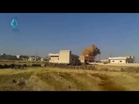 ロシア軍の戦闘機に反撃する為に銃を乱射するが逆に仕返しされ逃げ惑うISIS戦闘員ww