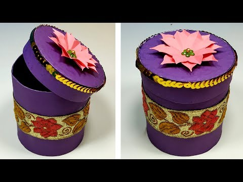 DIY How to Make Very Beautiful Paper Gift Box - Jewellery Box with Paper - Jarine's Crafty Creation