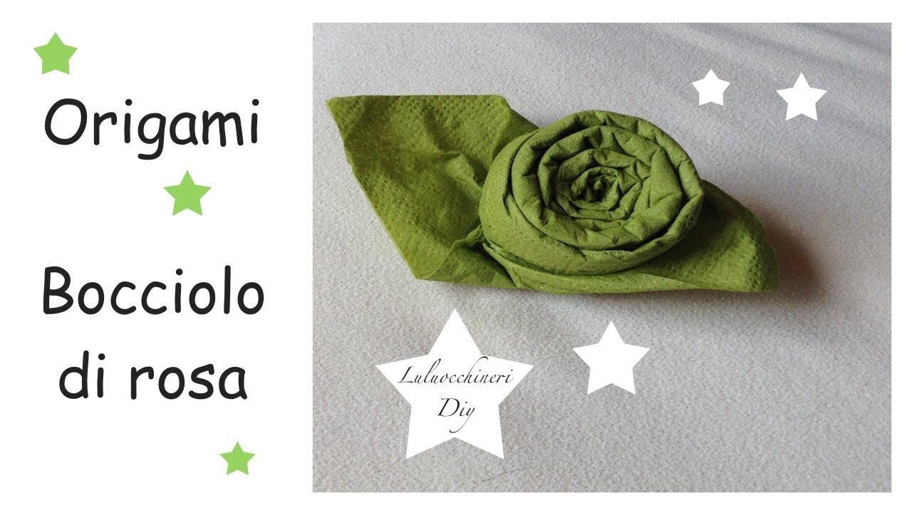 Piegare Tovaglioli A Rosa.Piegare I Tovaglioli Rosa Origami Semplice
