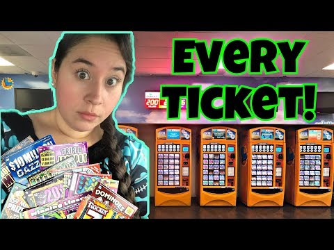 I BOUGHT EVERY LOTTERY TICKET IN THE MACHINE! AGAIN!! CALIFORNIA LOTTERY EDITION!