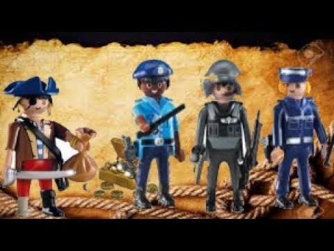 playmobil police policiers contre pirates youtube. Black Bedroom Furniture Sets. Home Design Ideas