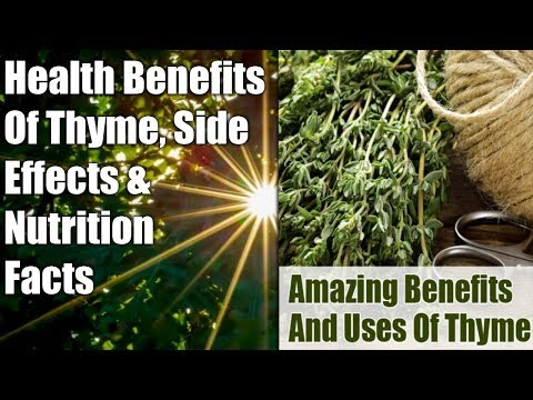 HEALTH BENEFITS OF THYME SPICE & LEAVES: NUTRITION FACTS & SIDE EFFECTS FIGHT CANCER & PAIN�� ✔️