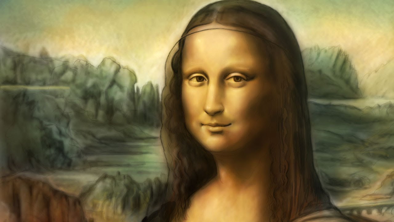 mona lisa von leonardo da vinci speedpainting von missfeldt youtube. Black Bedroom Furniture Sets. Home Design Ideas