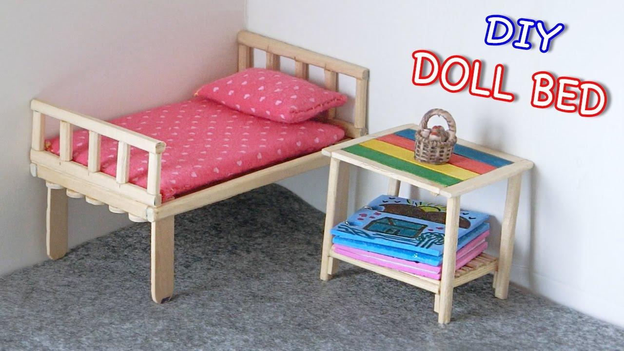 Diy Miniature Doll Bed From Chopsticks Creative Crafts