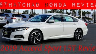 2019 Honda Accord Sport FIRST LOOK! 1.5L Accord Sport walk around.