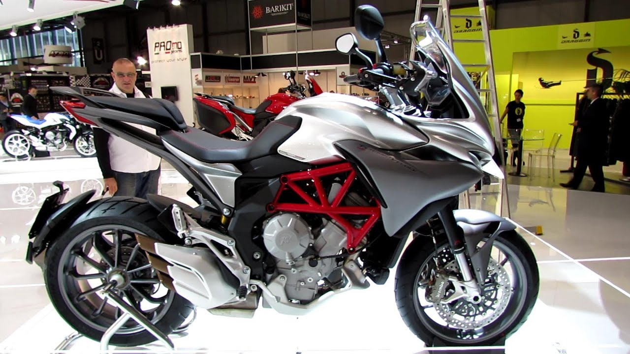2014 mv agusta turismo veloce 800 argente walkaround - debut at