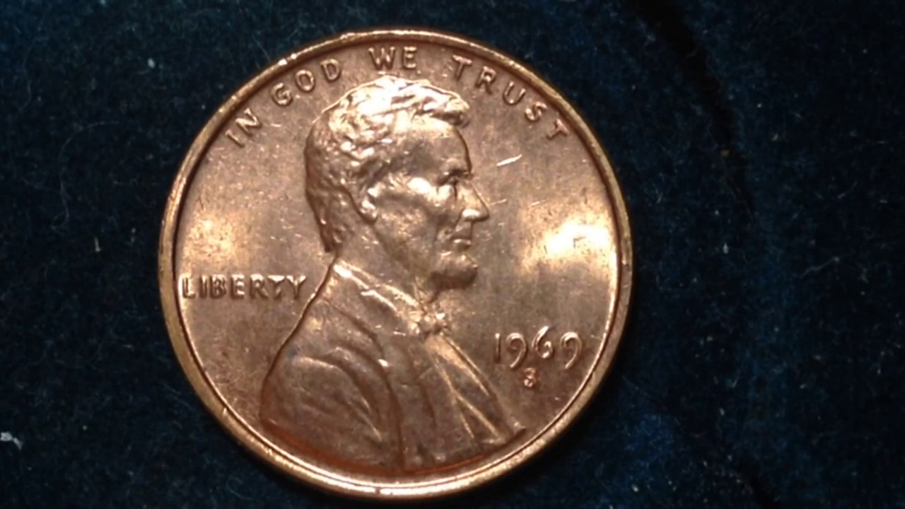 1969 S Lincoln Penny