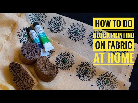 How to do block printing on fabric at home | DIY Block Printing | Fabric Paints