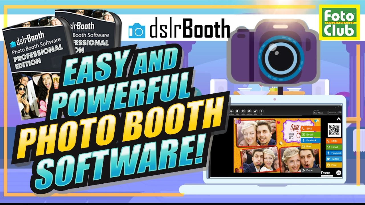 DNP RX1HS Photo Printer, dslrBooth Pro Photobooth Software and Two Photo  Booth Templates Bundle