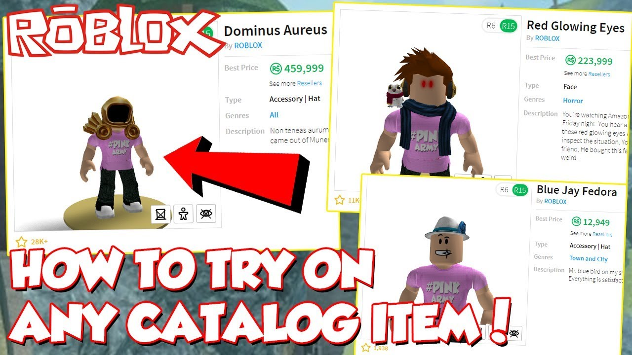 New How To Try On Any Catalog Item On Roblox Try Before You Buy - try the catalog roblox