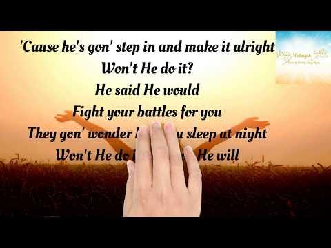 Won't He Do It Lyrics Koryn Hawthorne Ft  Roshon Fegan #won't He Do It #Koryn Hawthorne