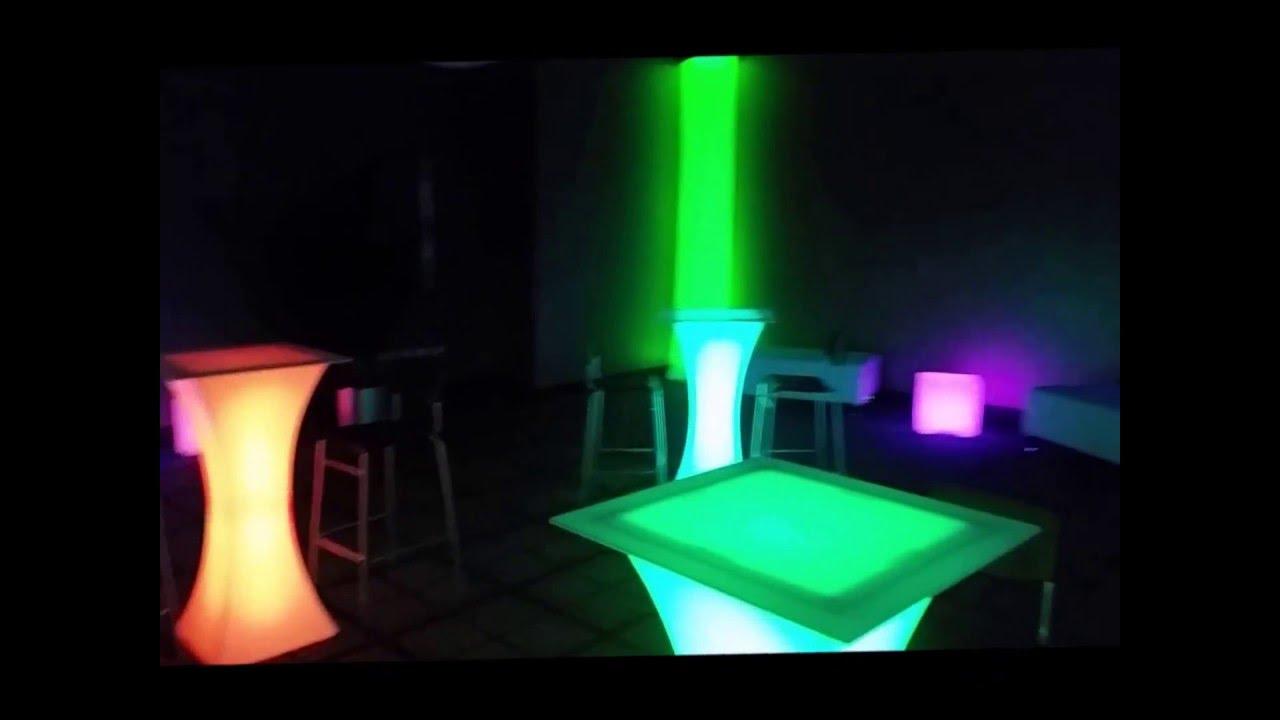 LED Lounge Furniture Rental U0026 Sales   Chicago, IL   YouTube