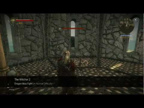 【The Witcher 2】Dragon Boss Fight Trick