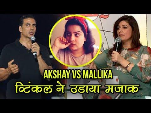 akshay-kumar---mallika-dua-war:-twinkle-khanna-jokes-and-reacts