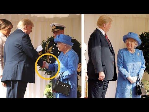 Queen Elizabeth & Trump's unusual Body Language when they met