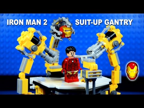 LEGO Iron Man Suit-Up Gantry Machine 1.0 Building Set Marvel Superheroes: Facebook Fan Page, please LIKE. https://www.facebook.com/Pinoytoygeek Flickr Photo Gallery http://www.flickr.com/photos/pinoytoygeek/  These are not Official LEGO Minifigures, these are KnockOffs or Bootlegs for your Reference, Comments and Comparison. PLEASE! ALWAYS BUY & SUPPORT OFFICIAL LEGO SETS AND MINIFIGURES!!!   The Suit-Up Gantry was used to undress Tony Stark at Stark Expo Opening Ceremony in Iron Man 2. With 3 moveable articulated arms.   THANK YOU FOR WATCHING!!!