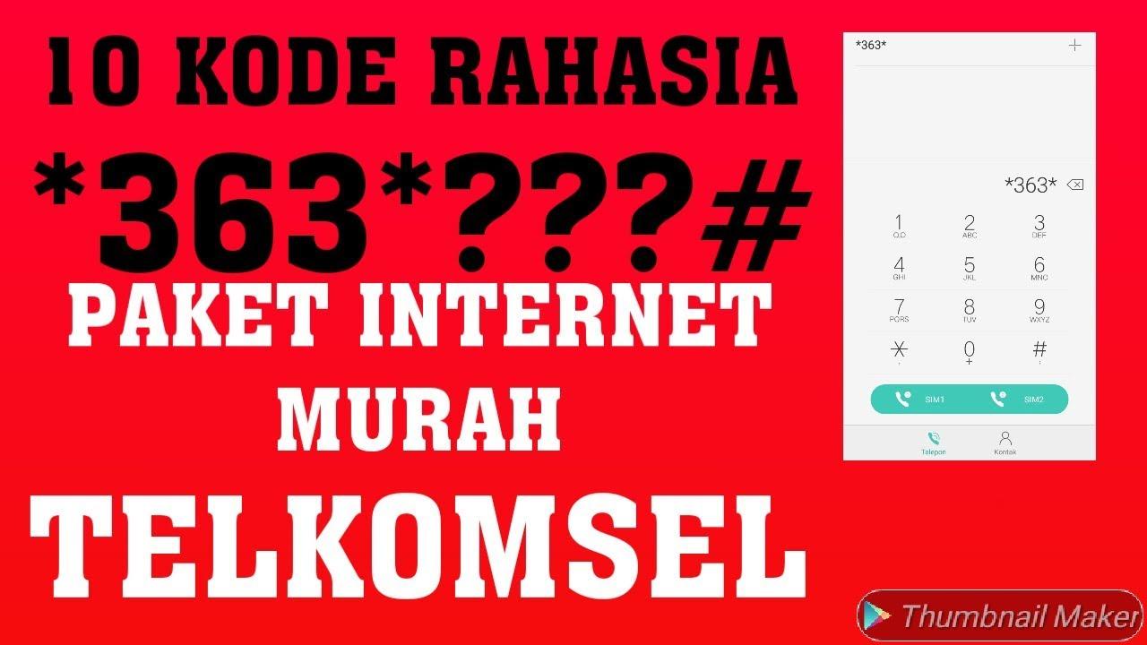 Paket Internet Murah Telkomsel 2019 Cara Dial Kode Rahasia 363 Youtube