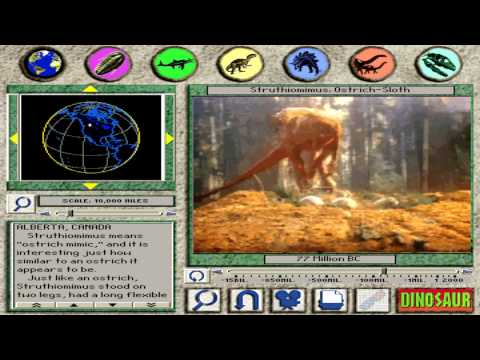 Struthiomimus: Ostrich-Sloth (HD) From 3-D Dinosaur Adventure MS-DOS/Packard Bell Version