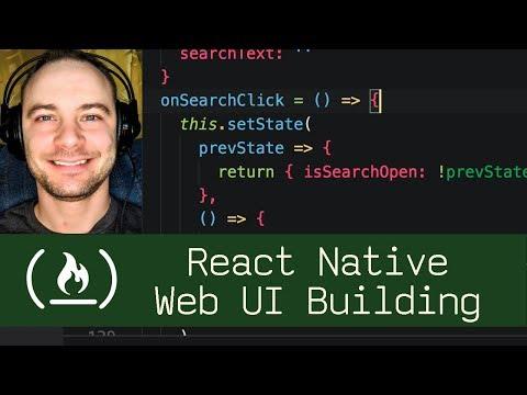 React Native Web UI Building  (P7D3) - Live Coding with Jesse