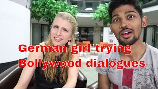 GERMAN GIRL ACTING ON BOLLYWOOD FILM DIALOGUES (SHOLAY MOVIE) PART 1  BERLIN, GERMANY
