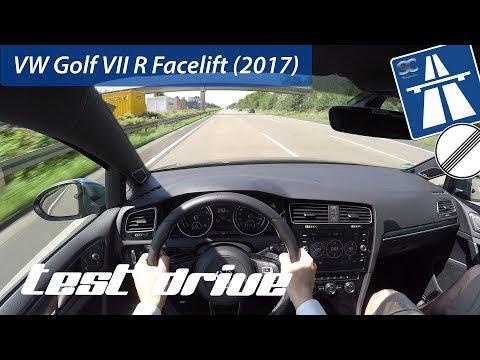 VW Golf VII R Facelift (2017) on German Autobahn - POV Test Drive