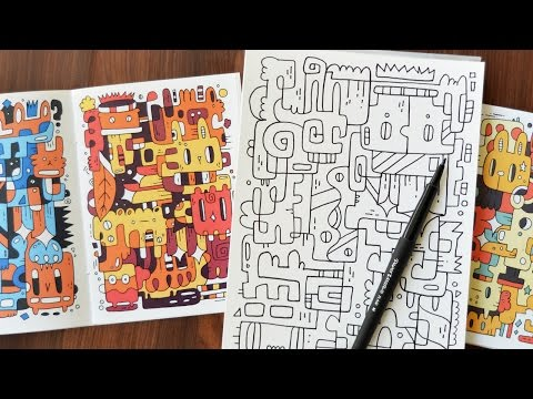 Fun & Colorful Doodle Style | Learning New Skills from Skillshare