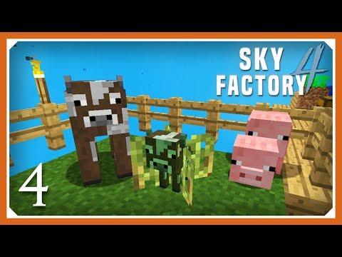Sky Factory 4   Growing Animals & More Saplings!   E04 (Sky