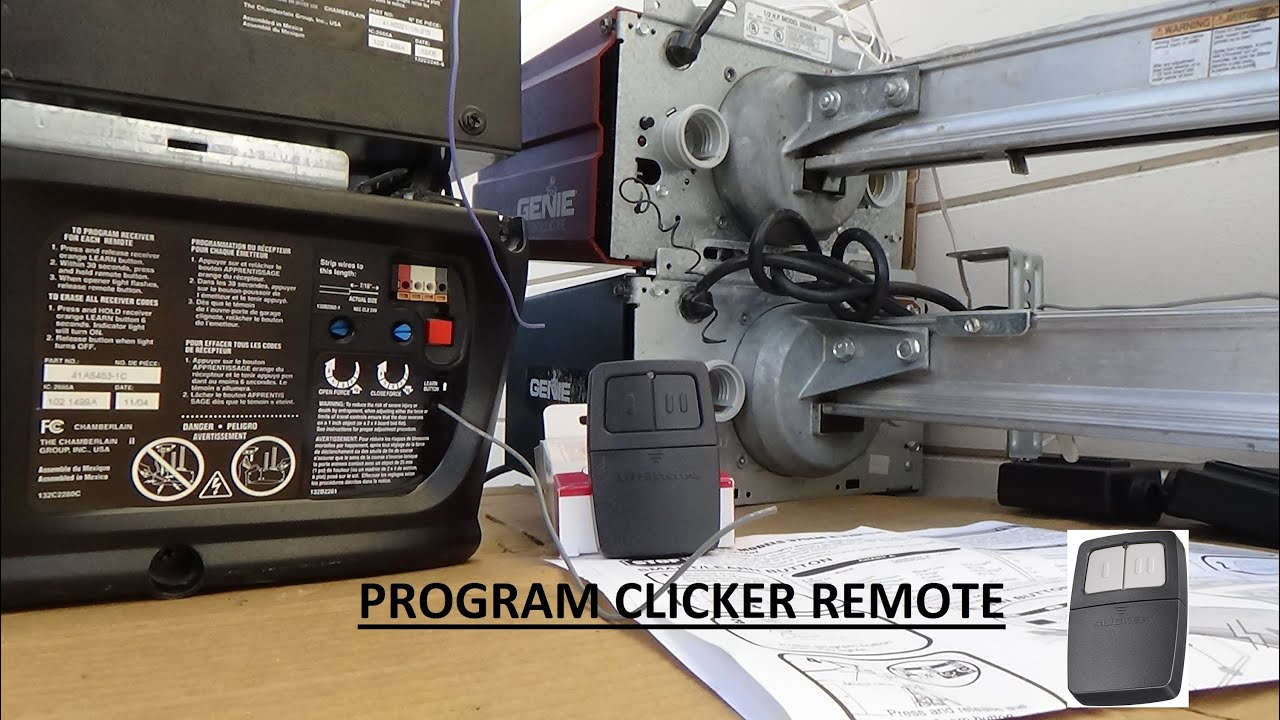 Program Clicker Remote  375LM To SmartLearn Button  YouTube