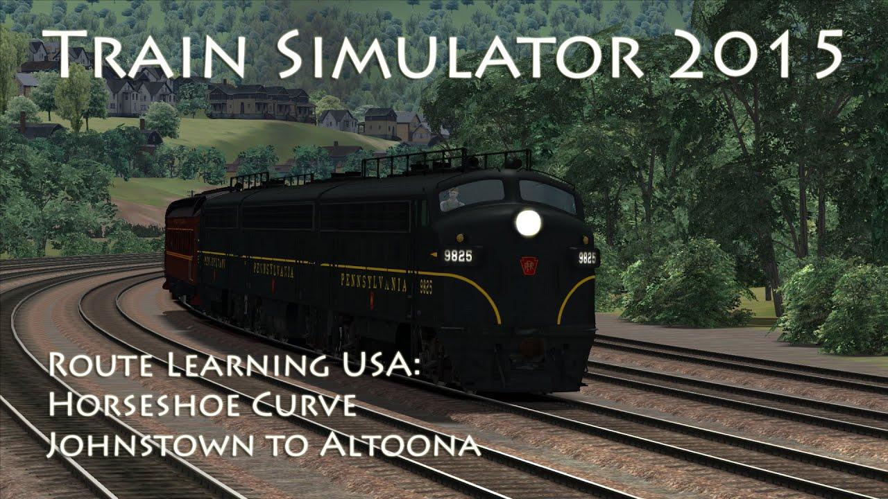 Train Simulator 2015 - Route Learning USA: Johnstown to Altoona (Horseshoe  Curve)