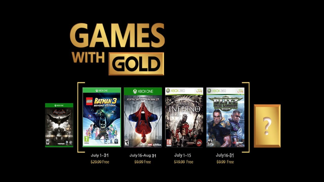 Games With Gold Predictions For July 2018 Xbox One 360