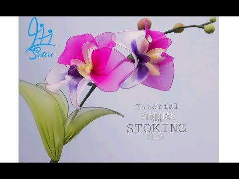 Tutorial bunga stoking||kerajinan||DIY
