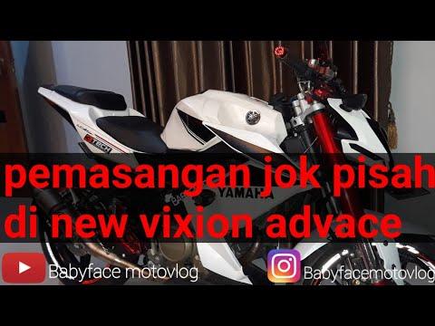 Cara memasang jok pisah/split di new vixion advace spesial edition