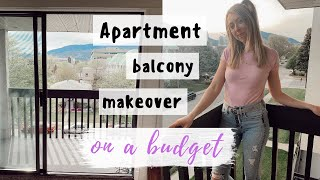 Decorate your APARTMENT PATIO on a BUDGET | PART 1: thrifting, plants, decor