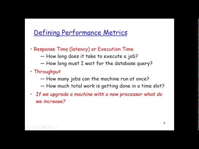 Computer Architecture: Performance 01