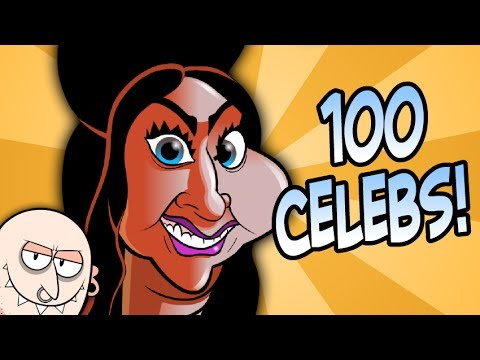 100 Caricatures in 60 Seconds