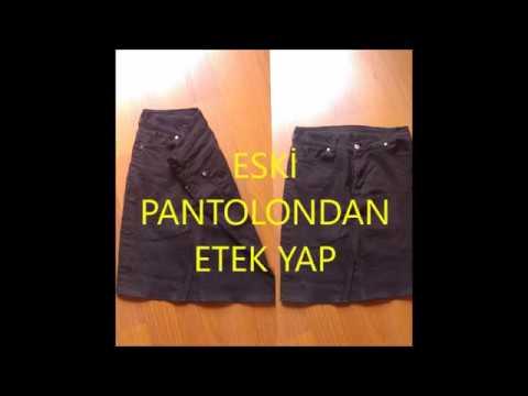 Eski Pantolondan Etek Yapımı/Pantolon Yenileme/Geri Dönüşüm/DIY/