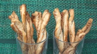 Cheese Twists Recipe - Adventures in Puff Pastry 1