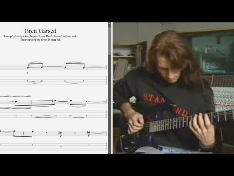 Brett Garsed - Sweep/hybrid Picked Legato ('Rock Fusion') - Best Lick (animated Tab - Fast & Slow)