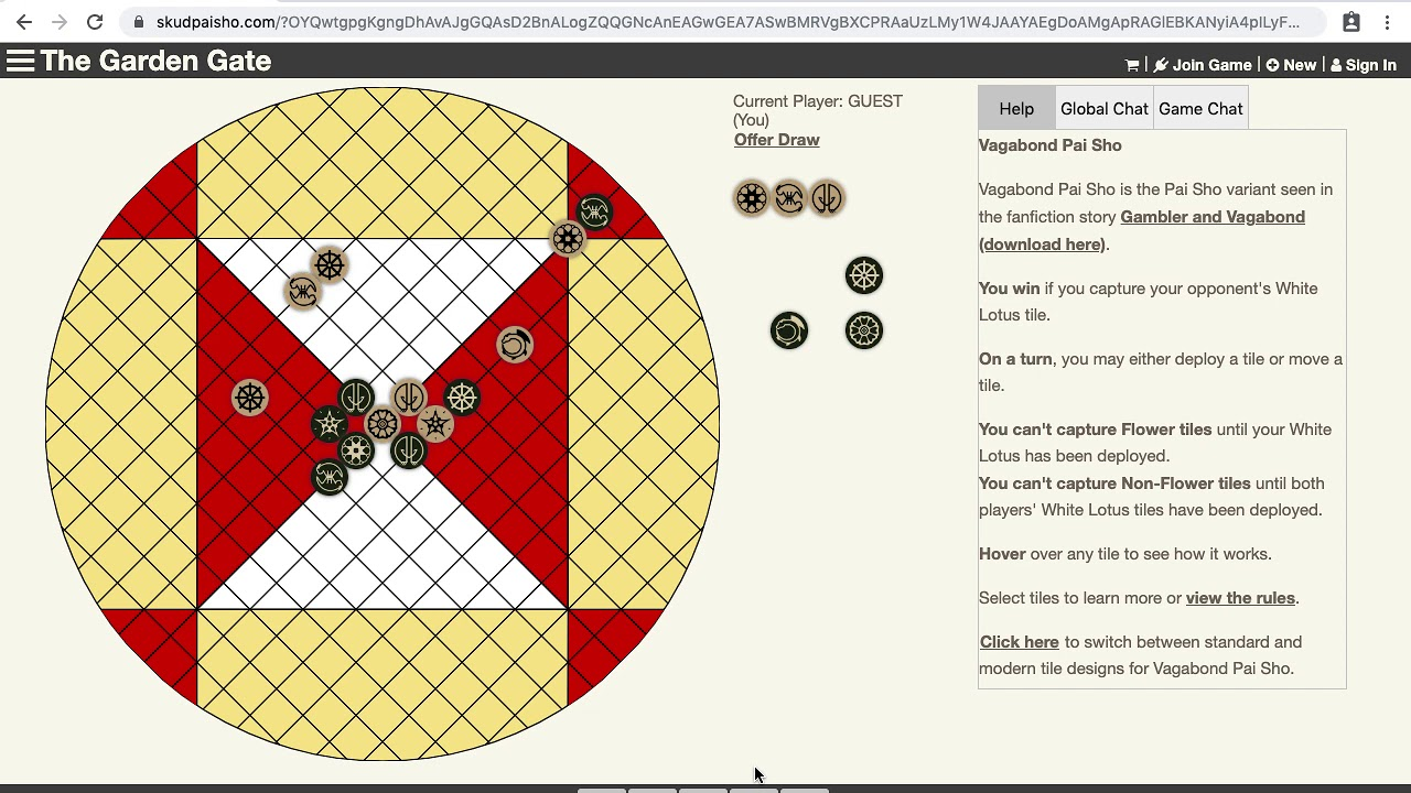 Vagabond Pai Sho Game Review 1 A White Lotus Gambit Ftw Youtube