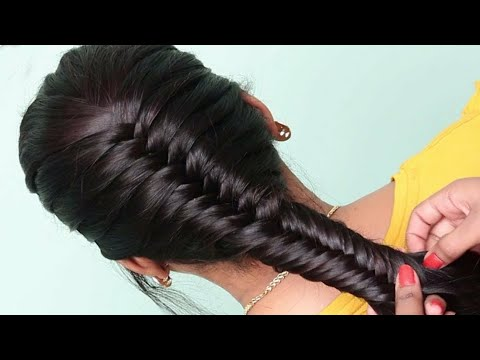 Easy Braided hairstyle with trick | Wedding hairstyles | Puff hairstyles for girls hairstyles thumbnail