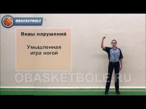 Жесты судей в баскетболе-игра ногой