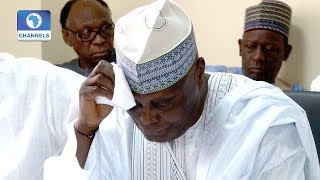 Atiku Weeps As He Receives PDP Nomination Form