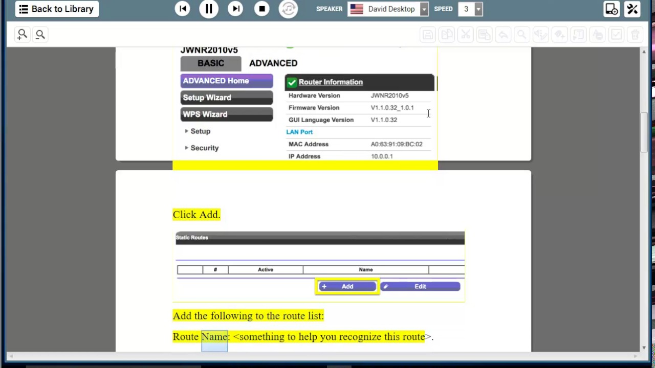 how to change ip on netgear router