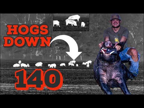 140 HOGS DOWN | Thermal Hog Hunting