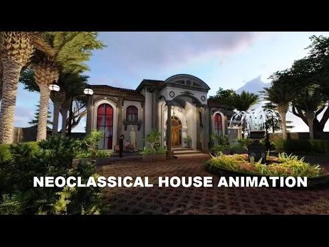 3D ANIMATION NEOCLASSICAL HOUSE YouTube