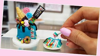 Mini Candy&ice-cream cake/ real cake/ Jenny's mini cooking / tiny food / 食べれるミニチュア
